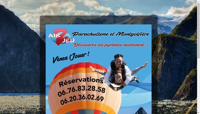 Site internet de Air2Jeu