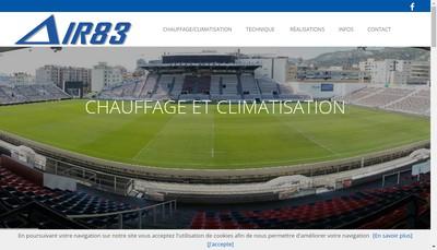 Site internet de Air 83