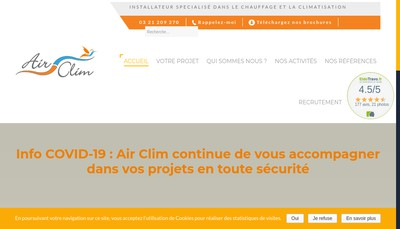 Site internet de Air Clim