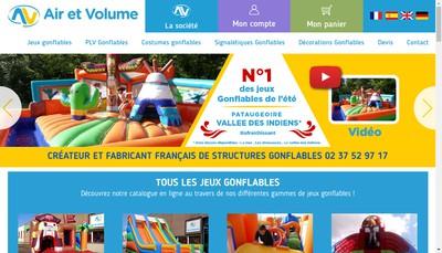 Site internet de Air et Volume Renaud Mazoyer Edition