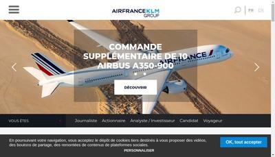 Site internet de Air France - Klm Group