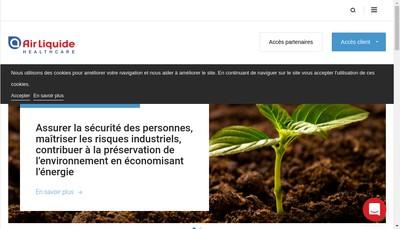 Site internet de Air Liquide Sante France