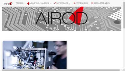 Site internet de Airod Technologies
