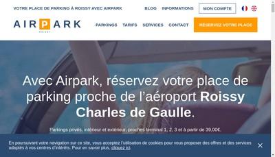 Site internet de Discountpark Airpark Roissy