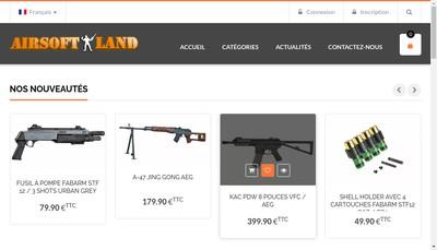 Site internet de Airsoft Land