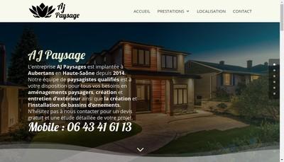Site internet de Aj Paysage
