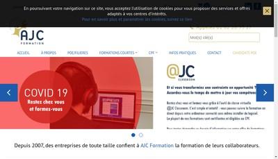 Site internet de Ajc Formation