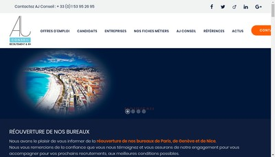 Site internet de Aj Conseil