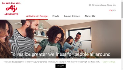 Site internet de Ajinomoto Europe SAS