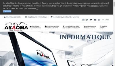 Site internet de Akaoma Consulting - Hackademy - Intelligency
