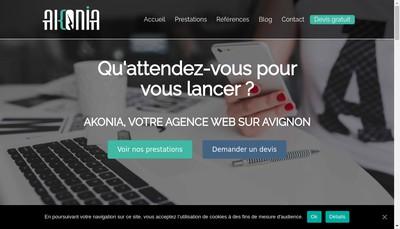 Site internet de Akonia