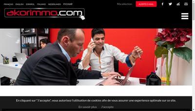 Site internet de Akorimmo