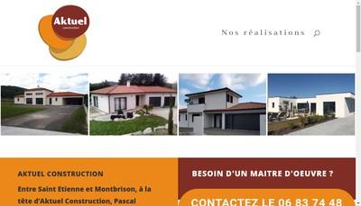 Site internet de Aktuel Construction