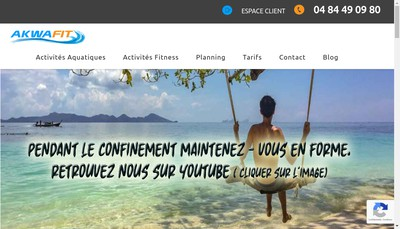 Site internet de Akwafit