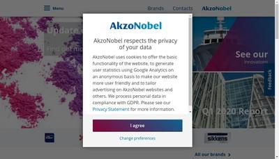 Site internet de Akzo Nobel Powder Coatings