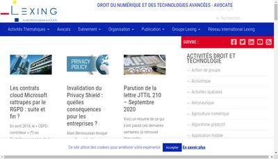 Site internet de Alain Bensoussan Selas