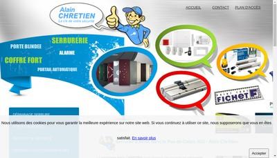 Site internet de Societe Chretien