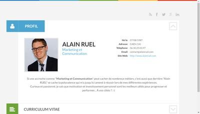 Site internet de Alain Ruel Communication