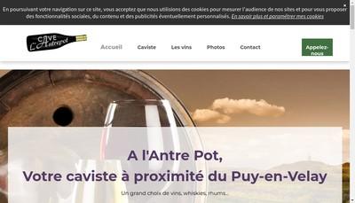 Site internet de A l'Antre Pot