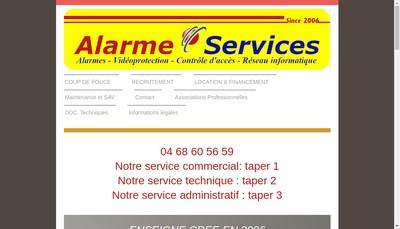 Site internet de Alarme Services