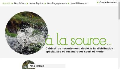 Site internet de A la Source SAS