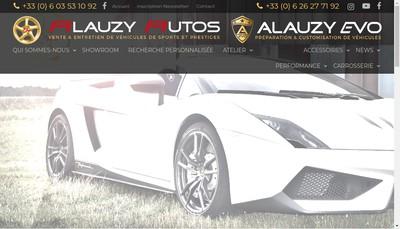 Site internet de Alauzy Autos