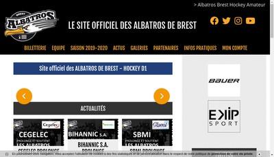 Site internet de Les Albatros de Brest