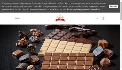 Site internet de SARL Albert Chocolatier