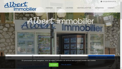 Site internet de Albert Immobilier