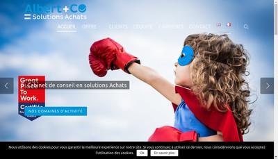 Site internet de Albert & Co
