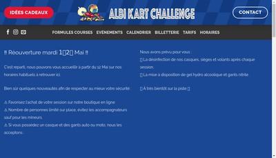 Site internet de Albi Kart Challenge