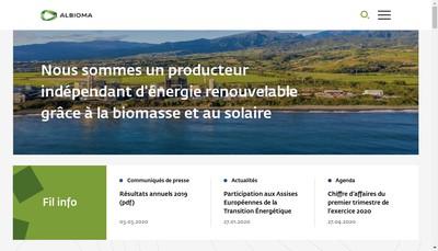 Site internet de Albioma le Moule