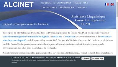 Site internet de Alcinet