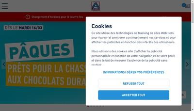 Site internet de Aldi Beaune