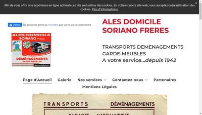 Site internet de Ales Domicile Soriano Freres