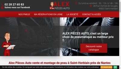 Site internet de Alex Pieces Auto
