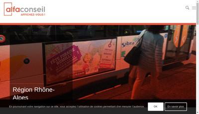 Site internet de Alfa Conseil