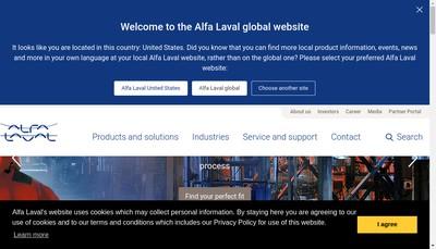 Site internet de Alfa Laval Packinox