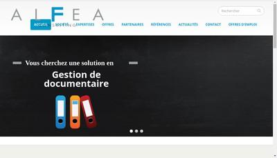 Site internet de Alfea Consulting