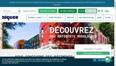 Site internet de Algeco