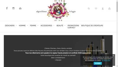 Site internet de Algorithme la Loggia