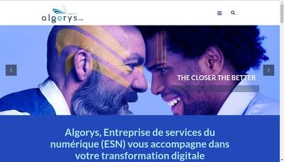 Site internet de Algorys Groupe
