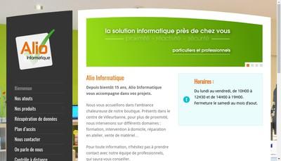 Site internet de Alio Informatique