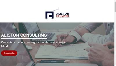 Site internet de Aliston