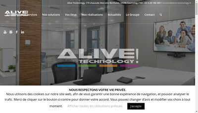 Site internet de Alive Technology