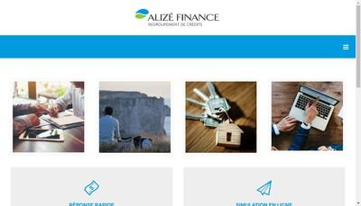 Site internet de Alize Finance
