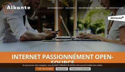 Site internet de Alkante Services