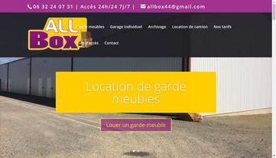 Site internet de All Box