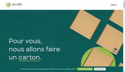 Site internet de Allard Emballages