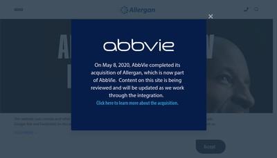 Site internet de Allergan Holdings France